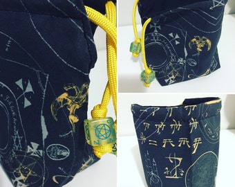 Black and Gold Cthulhu Lovecraft Chaos/Dice Bag