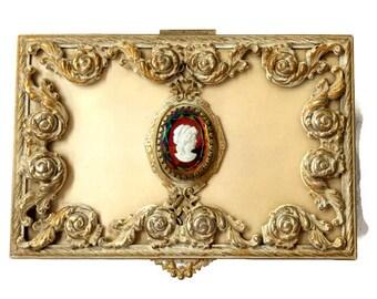 Ormolu Cameo Jewelry Casket