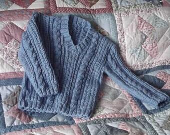 Hand Knit Child's Aran Jumper