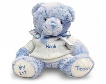 Personalized My 1st Teddy Bear - Blue, 12 Inch