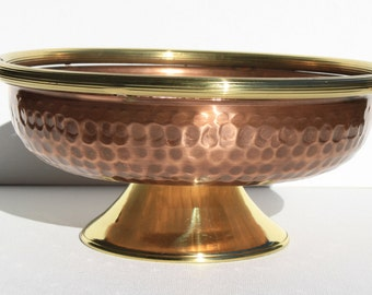 Fruit bowl fruit bowl//copper craft centerpiece. Handmade. Size small