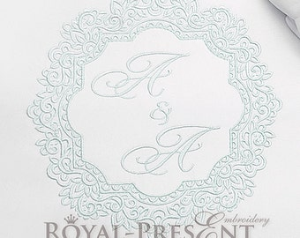 Machine Embroidery Design Vintage ornate frame - 2 sizes