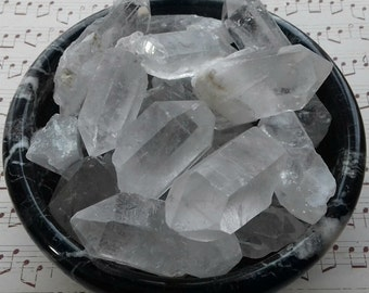 Clear Quartz Energy Charged Raw Crystal Point - Crystal Healing, Balance, Harmony, Clarity, Master Healer, Energy Amplifier, Cleansing