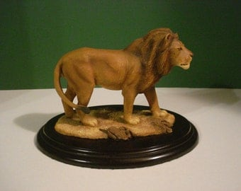 SALE - Lion Sculpture - Feathers Wildlife Limited Edition #1375