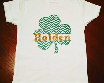 St. Patrick's Day Custom Name Toddler Shirt or Baby Onesie