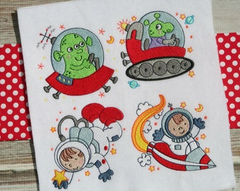 Step Into Space 12 Different Machine Embroidery Designs 4x4 5x7
