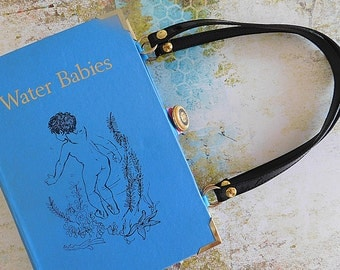 Water Babies - Charles Kingsley - Upcycled book - Handmade - Bag made from a book