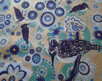 Australian Kookaburra Fabric, by the Half Yard