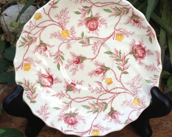"Vintage Copeland Spode Rosebud Chintz Saucer 5.5"" England"