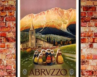 Abrvzzo 1920 Italian Poster Italian Vintage Italy Poster Italy Print Italian Art Italian Poster Italian Print Italian Wall Art