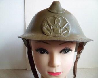 Vintage Military Fireman Helmet, Soviet Military Fireman Helmet, Military Metal Helmet.
