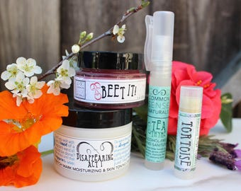Must Have Skin Care Gift Set - Free Shipping - Mothers Day Gift - Lip Scrub Gift Set - Essential oil Gift - Lip balm - Skin Toning Lotion