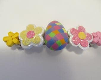Easter Barrette, Gifts for her, Gifts for girls, Gifts for Women, Gifts for teens, Easter gifts, Easter basket gifts, Button Barrettes