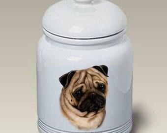 Pug Ceramic Treat Jar