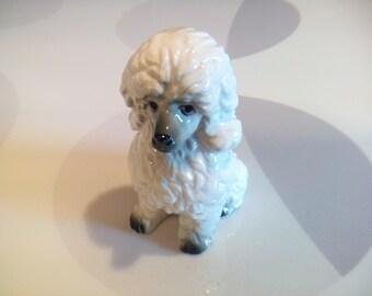Vintage White Ceramic Poodle Figurine