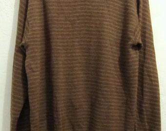 C0UPON C0DE Sale@@A Men's Mod,Vintage 60's,Striped Bown HIPSTER era Sweatshirt.L