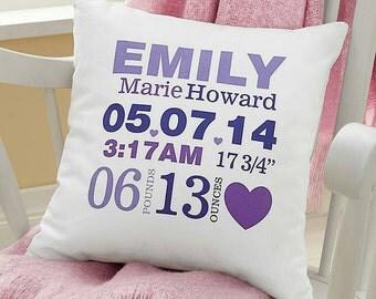 Birth Record Cushion