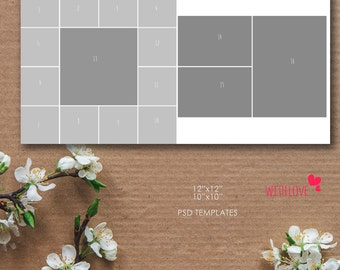 12x12, 10x10 Story Board Template, Photoshop, psd files - INSTANT Download - T19