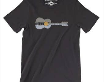 Guitar Reflection T-Shirt - Vintage Style Lightweight