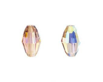 5200 Swarovski Crystal Barrel Shaped Beads - Light Colorado Topaz AB 9 x 6
