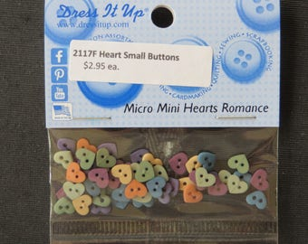 2117F Micro Mini Hearts Romance Buttons Dress It Up