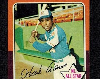 Topps Baseball Hank Aaron Hall of Fame 1975 Topps #1 Braves
