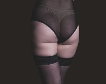 READY TO SHIP sheer high waisted knicker size S
