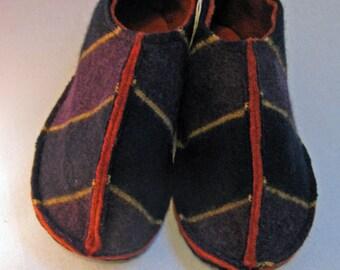Handmade Felted Slippers - Size 3-4 UK