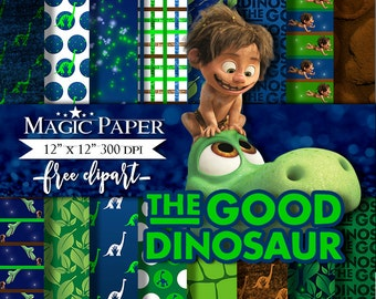 50% OFF SALE The Good Dinosaur Digital Paper - Clipart Clip Art - Instant Download