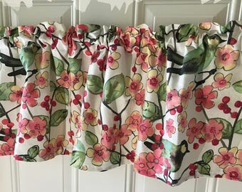 Waverly spring birds and cherry blossom spring summer curtain valance 54 wide
