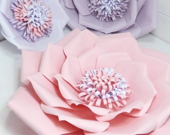 Giant paper flower - wall hanging - home decor - party decor - choice of colours and paper options & sizes - 20, 28 or 36cm - Flower wall