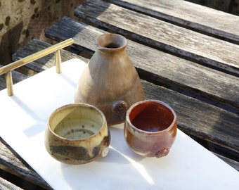 Sake set (sake jar and sake cups)