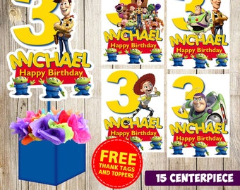 15 Toy Story centerpieces, Toy Story printable centerpieces, Toy Story party supplies, Toy Story birthday