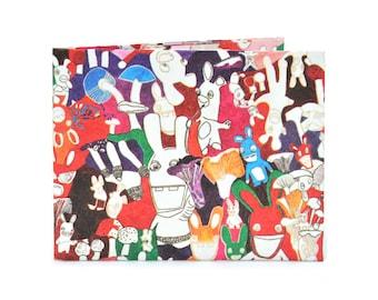 Tyvek paper wallet - RABBIT - Card holder - Kamyno