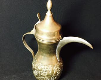 Turkish Brass Teapot Marked #77