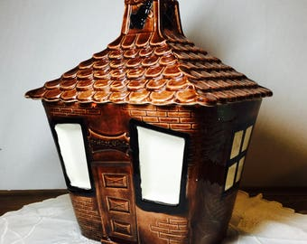 California Pottery School house Cookie Jar