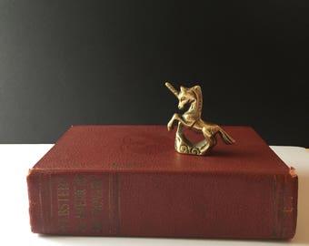 Tiny Vintage Brass Unicorn