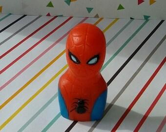 Vintage 1978 Imperial Plastics Marvel Spiderman Finger Puppet