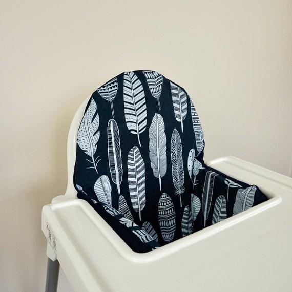 Ikea Kinderbett Für Mädchen ~ Dark Navy Feder IKEA Antilop Hochstuhl Hochstuhl Kissenhülle mit oder