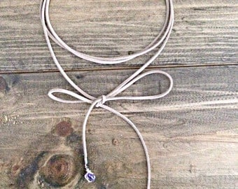 Crystal Wrap Choker, choker, bohochic, gift for her, crystal jewelry, crystal necklace