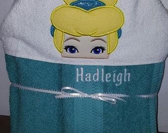 Glass slipper Hooded Towel