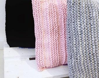 "Crochet pouf scandinavian design- Cotton pouf - Floor cushion - Crochet pouf - Puff nordic design floor - RECTANGLE (20"" - 50 cms.)"