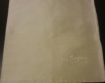 SALE- Set of 4 Jim Thompson  Thai silk napkins/ handkerchiefs