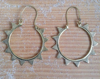 SUN EARRINGS | BRASS |