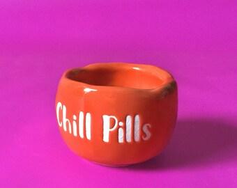 Chill Pills Tiny Ceramic Pot