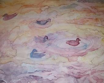 Watercolor Ducks