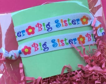 Big Sister Hair Ties// Big Sister Gift// big sister elastic