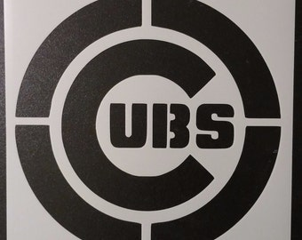 Chicago Cubs Custom Stencil FAST FREE SHIPPING