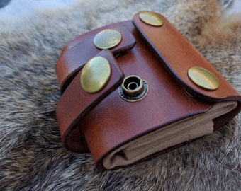 Leather & Canvas Bushcraft Forager Pouch Bag. FREE UK postage
