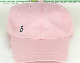 "Love Pink! Low-Key Minimalist ""The 6"" Toronto Baby Pink Dad Caps. Unstructured, strap back dopeness! YYZ, GTA, CN Tower, Drake, The Weeknd!"